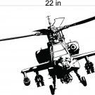 Apache Helicopter Auto Car Vinyl Wall Art Sticker Decal