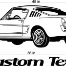 Ford Mustang Auto Car Vinyl Wall Art Sticker Decal