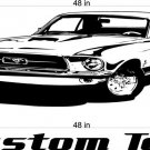 Ford Mustang Wall Decal Art Auto Car Vinyl Sticker  3 Boys Room Decor Man Cave
