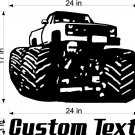 Monster truck Auto Car Vinyl Wall Art Sticker Decal