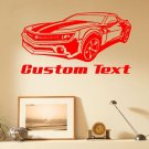 Chevy Camaro Auto Car Vinyl Wall Art Sticker Decal
