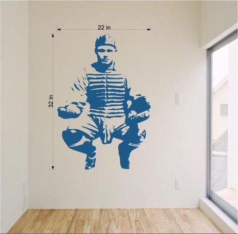 Baseball Catcher Vinyl Wall Sticker decal Art Home Decor