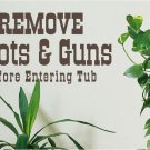 Remove Boots Bathroom Vinyl Wall Quote Decals Stickers
