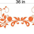 Floral Flowers Window Treatment Vinyl Wall Decals Stickers