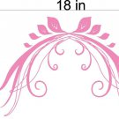 Floral Flowers Window Treatment Vinyl Wall Decals 2