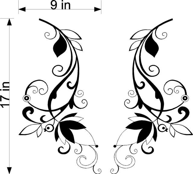 Floral Flowers Window Treatment Vinyl Wall Decals 12