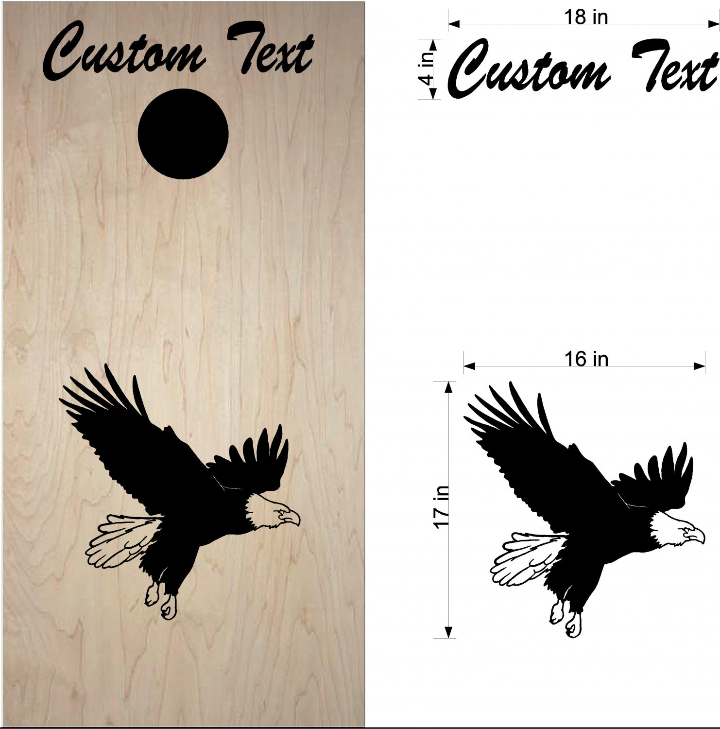 Eagles Cornhole Board Decals Bean Bag Toss Stickers Sports Football