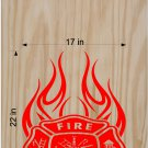 Fire Police Firemen Cornhole Board Decals Sticker FP99