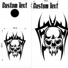 Custom Cornhole Board Decals Stickers Skulls & Jokers 9B