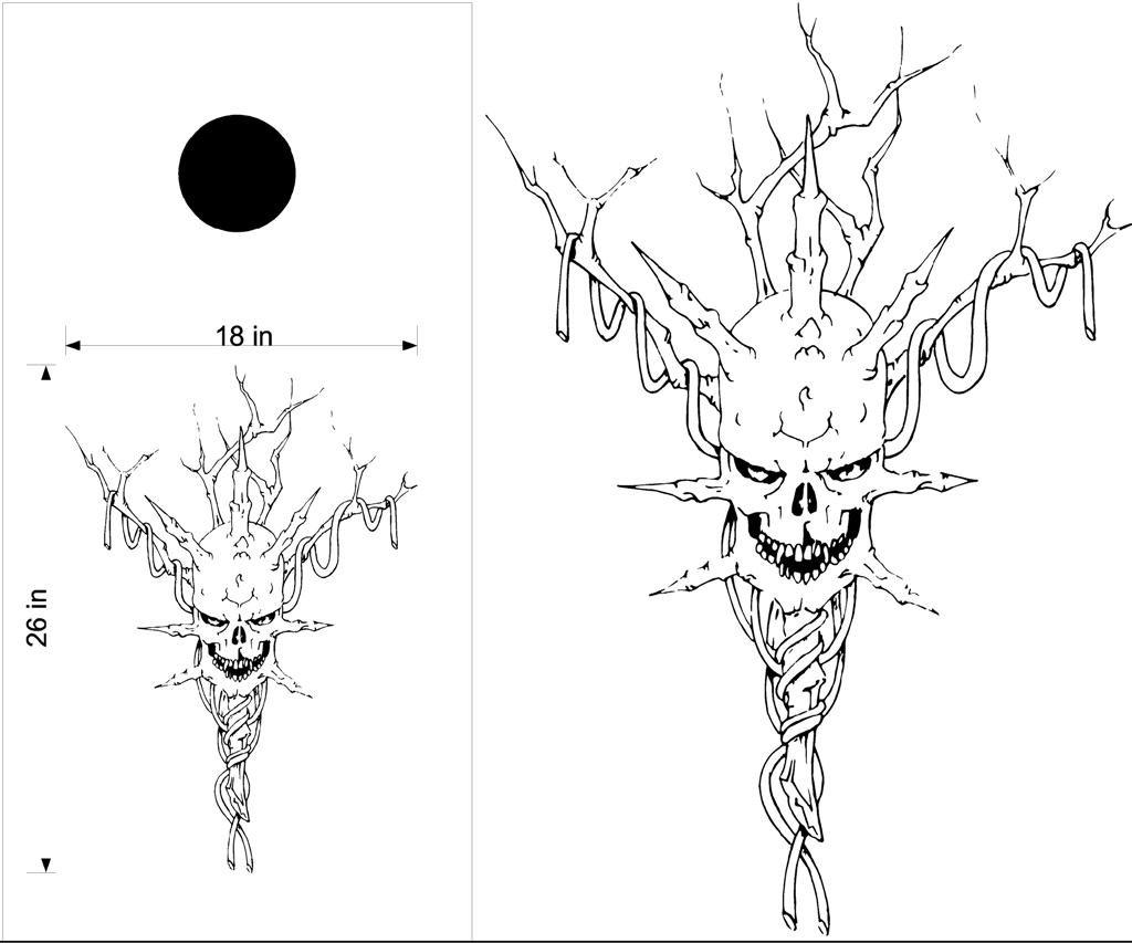 Skull Cornhole Board Decals Stickers Jokers 393