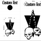 Custom Cornhole Board Decals Stickers Skulls & Jokers 5B