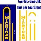 Michigan Cornhole Board Decals Stickers Sports Teams Mascots