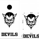 Devils Cornhole Board Decals Stickers Sports Teams Mascots