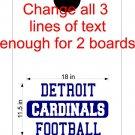 Custom Text Cornhole Board Decals Stickers Sports Teams Mascots