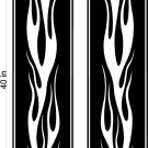 Flame Stripe Hood Decal Graphics Racing Trailer Vinyl Sticker FREE SHIPPING! FL01