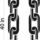 Chain Links Stripe Hood Decal Graphics Racing Trailer Vinyl Sticker FREE SHIPPING!