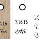 Mr and Mrs Wedding Anniversary Cornhole Board Decals Stickers Graphics Wraps
