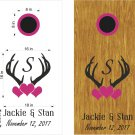 Deer Hunting Wedding Anniversary Cornhole Board Decals Stickers Graphics Wraps