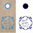 Name Date Wedding Anniversary Cornhole Board Decals Stickers Graphics Wraps