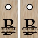 Name Initial Date Wedding Anniversary Cornhole Board Decals Stickers Graphics Wraps