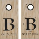 Initial Date Wedding Anniversary Cornhole Board Decals Stickers Graphics Wraps