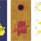 Michigan Bama Cornhole Board Decals Stickers Graphics Wraps