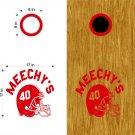 Football Helmet Team Cornhole Board Decals Stickers Graphics Wraps Bean Bag Toss Baggo