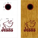 Jesus Christian Cornhole Board Decals Stickers Graphics Wraps Bean Bag Toss Baggo