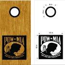 POW MIA Cornhole Board Decals Stickers Graphics Wraps Bean Bag Toss Baggo