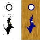 Upper Peninsula Yooper Cornhole Board Decals Stickers Graphics Wraps Bean Bag Toss Baggo