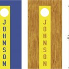 Your Name Stripe Cornhole Board Decals Stickers Graphics Wraps Bean Bag Toss Baggo