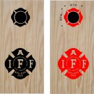 IAFF Firemen Firefighter Cornhole Board Decals Stickers Graphics Wraps Bean Bag Toss Baggo