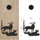 Deer Hunting Cornhole Board Decals Stickers Graphics Wraps Bean Bag Toss Baggo