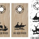 Deer Turkey Hunting Cornhole Board Decals Stickers Graphics Wraps Bean Bag Toss Baggo