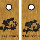 Bear Hunting Cornhole Board Decals Stickers Graphics Wraps Bean Bag Toss Baggo