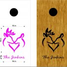 Deer Heart Cornhole Board Decals Stickers Graphics Wraps Bean Bag Toss Baggo