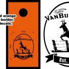 Deer Buck Jumping Fence Cornhole Board Decals Stickers Graphics Wraps Bean Bag Toss Baggo