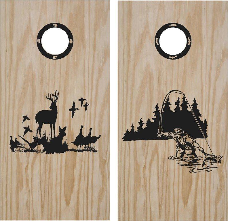 Duck Deer Hunting Cornhole Board Decals Stickers Graphics Wraps Bean Bag Toss Baggo