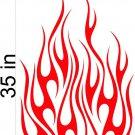 Fire Flame Stripe Car Truck Hood Decal Graphics Racing Trailer Vinyl Sticker Graphics 01