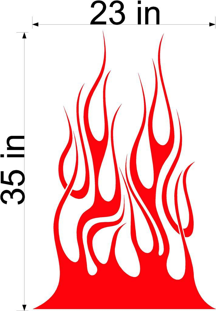 Fire Flame Stripe Car Truck Hood Decal Graphics Racing Trailer Vinyl Sticker Graphics 08