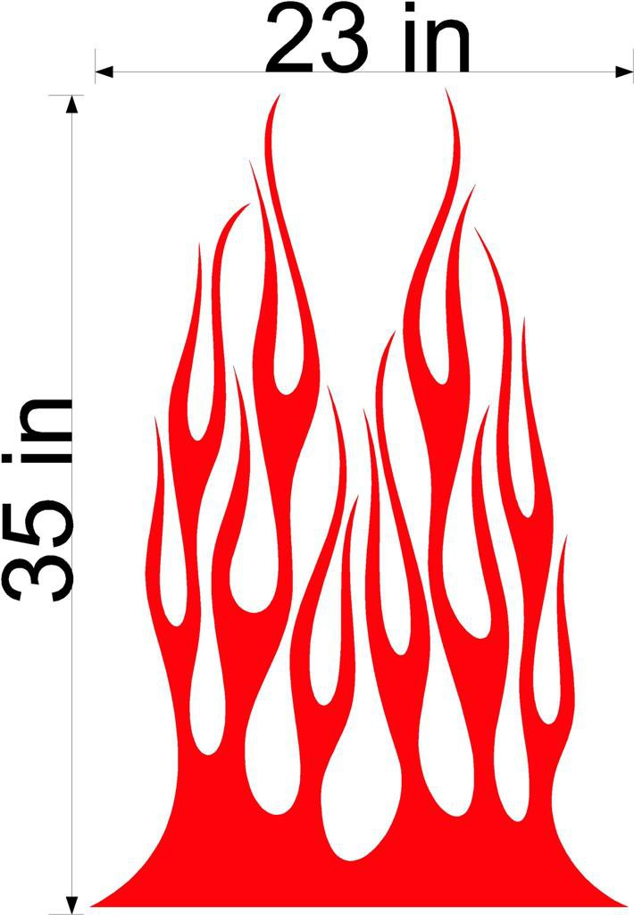 Fire Flame Stripe Car Truck Hood Decal Graphics Racing Trailer Vinyl Sticker Graphics 10