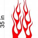 Fire Flame Stripe Car Truck Hood Decal Graphics Racing Trailer Vinyl Sticker Graphics 11