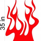 Fire Flame Stripe Car Truck Hood Decal Graphics Racing Trailer Vinyl Sticker Graphics 20