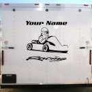 Go Kart Team Name Racing Enclosed Trailer Vinyl Stickers Decals Graphics FREE SHIPPING GK02