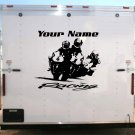 Motorcycle Team Name Racing Enclosed Trailer Vinyl Stickers Decals Graphics FREE SHIPPING GK02