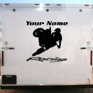 Motorcycle Team Name Racing Enclosed Trailer Vinyl Stickers Decals Graphics FREE SHIPPING GK03