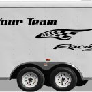 Your Team Name Racing Enclosed Trailer Vinyl Stickers Decals Graphics FREE SHIPPING GK103