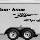 Your Team Name Racing Enclosed Trailer Vinyl Stickers Decals Graphics FREE SHIPPING GK105