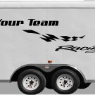 Your Team Name Racing Enclosed Trailer Vinyl Stickers Decals Graphics FREE SHIPPING GK108