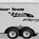 Your Team Name Racing Enclosed Trailer Vinyl Stickers Decals Graphics FREE SHIPPING GK109